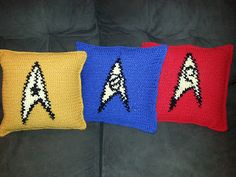 #Crochet Pattern: #StarTrek Science and Medical (Blue) Insignia Pillow