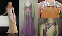 This replica Jasz Couture® prom dress is just as lovely in lavender as the original. (replica Jasz Couture® 4614)