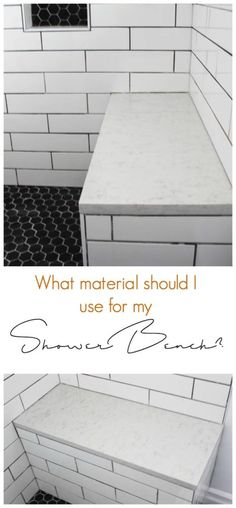 A great summary of the different materials you can use for a shower bench, with some reasons as to why you choose one over another. Beautiful inspiration for the bathroom!