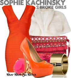 Inspired by Jennifer Coolidge as Sophie Kachinsky on 2 Broke Girls.
