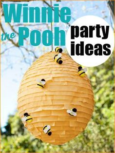 Winnie the Pooh Party.  Cute ideas for little kids birthday party or baby shower.