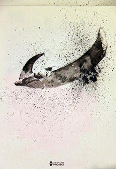 Este es el 23º vídeo del proyecto, un pez raya en tinta china. Para ver el proceso leed la noticia entera que hay vídeo incluido. This week I add the 23th post for the project. It is a stingray fish done in chinese ink.