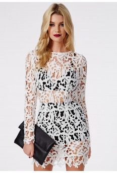 Falicity Lace Two Piece Bodycon Ivory