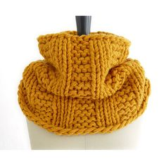 A double knit cowl of French wool in a sunny color that is as stylish as it is cozy. Super warm. Pull it up, roll it down or wear it like a hood. ☆