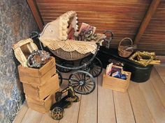 Dollhouse attic pieces in 1/12 scale