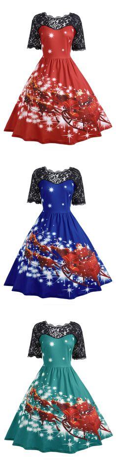 Wholesale Plus Size Lace Panel Father Christmas Midi Party Dress 5xl Red Online. Cheap Plus Size Little Black Dress And Christmas Plus Size Sweater on Rosewholesale.com