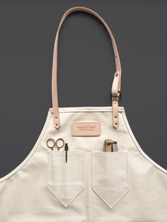 Natural Canvas Apron from Andover Trask   Made in Atlanta