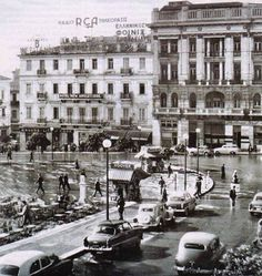 1950 ~ Rainy day in Athens (Syntagma square), Greece Athens City, Athens Greece, Mykonos, Old Pictures, Old Photos, Vintage Photos, Greece Photography, Kai, Greek History