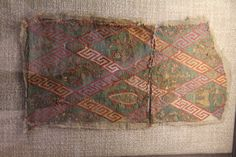 Belt pattern: Two emroidered textile fragments, secondary use as relic wrappings, century, Dommuseum Passau Medieval Life, Medieval Art, Friedrich Ii, Medieval Embroidery, Century Textiles, Tablet Weaving, Textiles Techniques, Historical Art, Romanesque