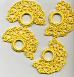 Crochet 6 napkin rings by Handarbeitstraum on Etsy
