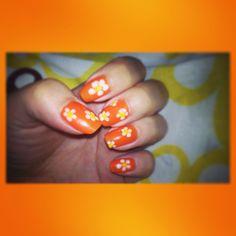 orange & flower