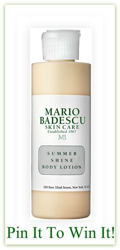 Badescu's pinboard, here: http://pinterest.com/pin/74027987595210847/  #mariobadescu#summershinebodylotion