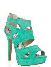 Teal heels.