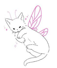 Cute Tiny Tattoos, Pretty Tattoos, Mini Tattoos, Small Tattoos, Mini Drawings, Cute Little Drawings, Cool Art Drawings, Doodle Tattoo, Cat Tattoo
