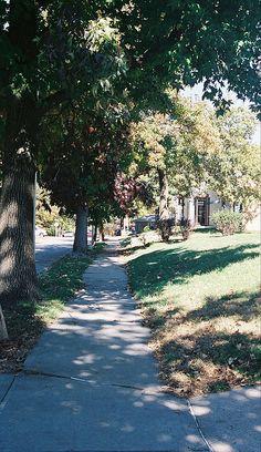 My sidewalk to school, 50 years ago....