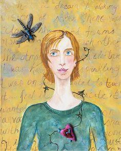Inspiration  Contemporary Art Print  Women by SilentMyloStudio