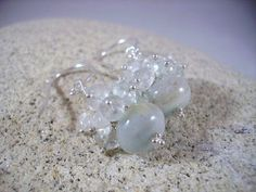 Aquamarine Amazonite Sterling Silver Cluster by OBTPjewelry, $30.00