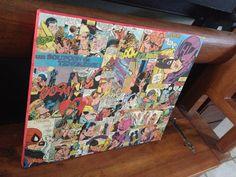 Collage de comics années 70-80 sur toile ayant pour thème les baisers : Décorations murales par marvelles