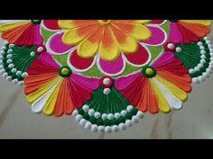 आनेवाले त्याहोरो की रंगोली - आसान रंगोली बनाने की ट्रिक, Beautiful Rangoli by Sangeeta - YouTube