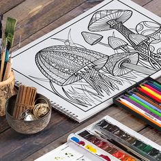 I love to draw and color, but I found that most of the coloring pages out there didnt appeal to me. So, I started making my own. This is a hand