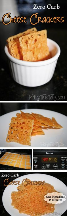 No Carb Cheese Crackers - as simple as baking cheese! I'm not joking here!