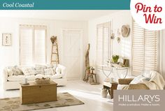 """1. Follow Hillarys on Pinterest. 2. Pin your favourite style from the """"What Style Are You?"""" board for a chance to win £500 of Hillarys vouchers! Two runners up also get £50 M vouchers each!"""