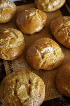 Homemade Pretzel Buns on MyRecipeMagic.com