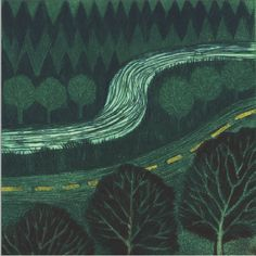 'Valley Road' etching by Anne Anderson (Edition of 20) Anne Anderson was born in Belfast in 1948 and studied at the Ulster College of Art and Design from 1966 - 70. Between 1986 and 1993 she lectured on the University of Ulster's Foundation Course. She has undertaken a number of book illustrations and design work. Anne is a Director of the Seacourt Print Workshop in Bangor, Co Down, where she regularly gives courses on printmaking.