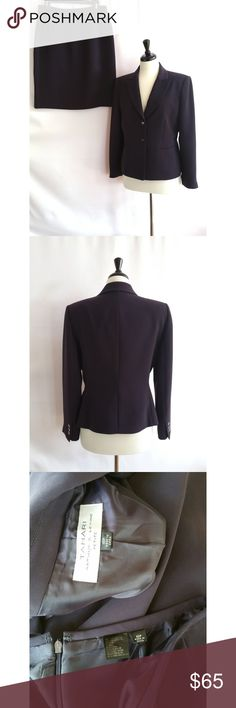"""Tahari ASL Size 10P Purple Skirt Suit Size 10 petite 100% polyester Lining is 100% polyester Dry clean Color is a plum purple  Blazer has double button closure Gently worn high quality suit Check out my other items.  I love to bundle!  Measurements of blazer laying flat:  Armpit to armpit:  20.5"""" Length:  23"""" Sleeves: 22.5""""  Measurements of skirt laying flat:  Waist:  14.75"""" Hips:  19.75"""" Length:  21.75"""" Tahari Jackets & Coats Blazers"""