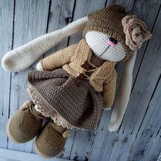 Beauty and Things (Вязаная игрушка, амигуруми) | VK Easter Crochet, Crochet Bunny, Knit Or Crochet, Cute Crochet, Crochet Animals, Crochet Doll Pattern, Crochet Toys Patterns, Amigurumi Patterns, Stuffed Toys Patterns