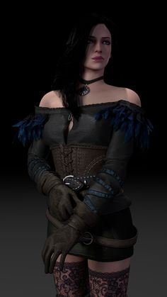 Learning the ropes of 3D (Yennefer)