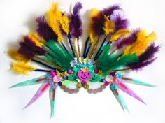 DIY Mardi Gras Masks or Tone down a bit and fairy , elf masks, try all natural materials to glue on.