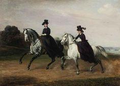 A Morning Ride by Conrad Freyberg (1842-1915)