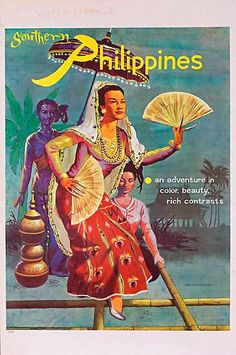 Vintage Poster Giclee Print: Southern Philippines: An Adventure in Color, Beauty, Rich Contrasts : - Arte Filipino, Filipino Culture, Filipino Tribal, Philippines Culture, Philippines Travel, Manila Philippines, Philippines Country, Party Vintage, Vintage Art