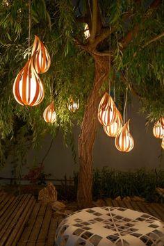 Paper Lanterns, Indoor Tree Nook.