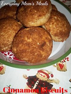 Cinnamon Biscuits: The perfect breakfast for any busy morning, especially Christmas Morning. Gooseberry Patch, Gooseberry Recipes, Brunch Items, Breakfast Items, Breakfast Recipes, Breakfast Dishes, Breakfast Nook, How To Make Breakfast, Perfect Breakfast