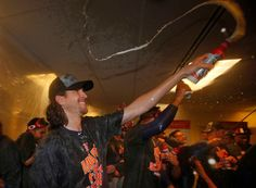 Jacob deGrom of the New York Mets sprays