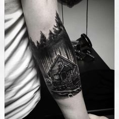 Forearm Piece heavy blackwork