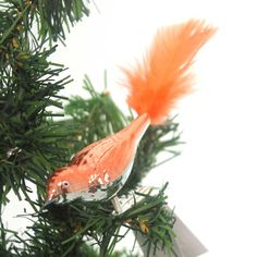 Golden Bell Collection Mini Clip-ON Bird Ornament Czech Republic Orange Bird Ornaments, Hanging Ornaments, How To Make Ornaments, Pastel Decor, Kids Story Books, Natural Christmas, Christmas Store, Glass Birds, Christmas Traditions