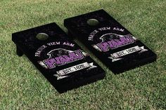 Prairie View A&M Panthers Rustic Established Banner Cornhole Game