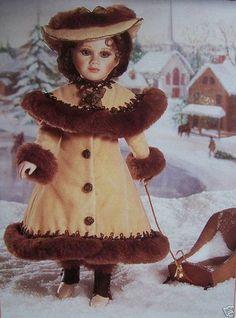 1992 Franklin Mint $200 Porcelain Victorian Doll Olivia Marie Sleigh | eBay