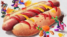 Hotdog! - Splatoon, Miiverse - by pepokabocha