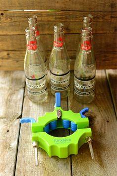 DIY beer bottle glasses, for the table Beer Bottle Glasses, Diy Glasses, Shot Glasses, Small Intimate Wedding, Intimate Weddings, Real Weddings, Wedding Blog, Wedding Favors, Diy Wedding