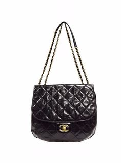 Chanel Black Quilted COCO PLEATS  Flap Bag  Double Chain Shoulder Bag  280196BK #Chanel #ShoulderBag