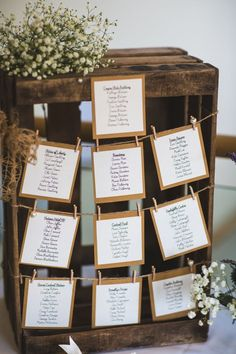 A Vintage Wedding at Wentworth Castle Gardens. Rustic table plan. Image by S6 Photography. Read more: http://bridesupnorth.com/2015/11/25/perfect-partnership-a-vintage-wedding-at-wentworth-castle-gardens-kathryn-george/