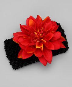 Autumn Crimson Dahlia Clip & Headband. LOVE LOVE LOVE this flower!
