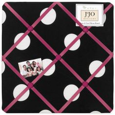 The fabric memo board from the Hot Dot Collection by Sweet Jojo Designs features a pink crisscross ribbon pattern on a polka dot print board. Simply place your notes, photos or postcards behind a ribbon to create your own wall art. Polka Dot Print, Polka Dots, Girls Comforter Sets, Twin Comforter, Bedding Sets, Fabric Memo Boards, Polka Dot Bedding, Photo Pin, Art Wall Kids