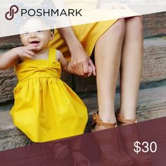 ⭐️SALE⭐️ Yellow Dress for Baby Yellow Dress with bow on front. Cotton material. Dresses