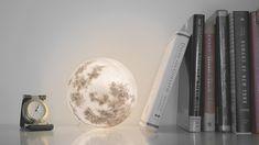 部屋の中に宇宙が広がる幻想的な月のライトLuna