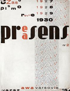 "The cover of the second issue of the magazine ""Praesens"" - Warsaw - 1930  by Władysław Strzemiński"